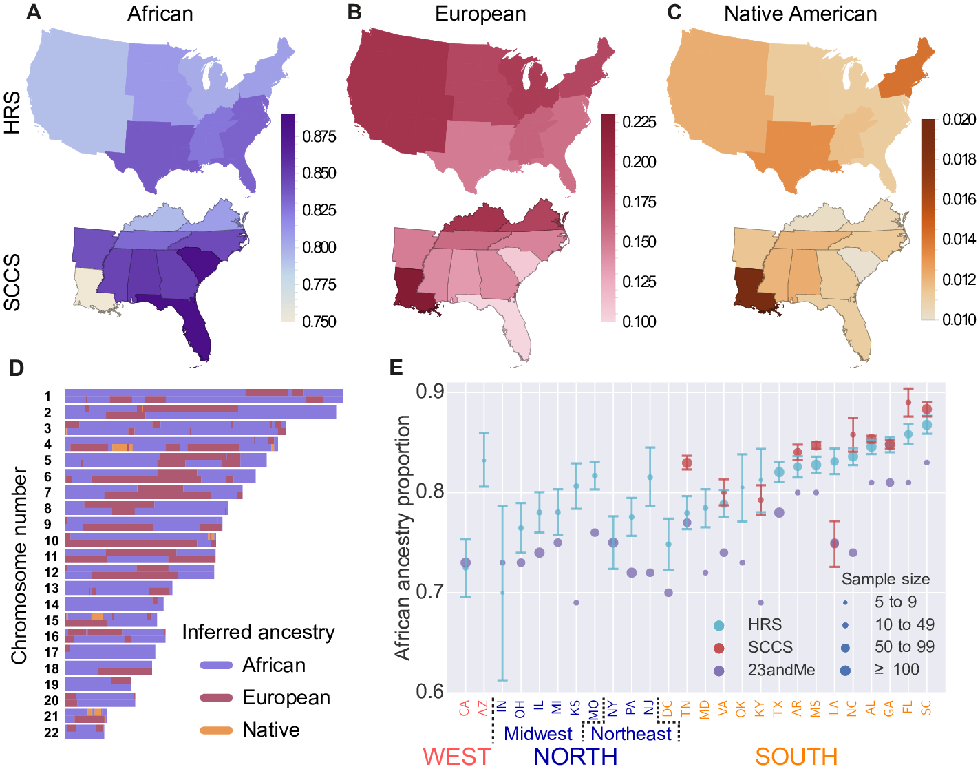FileInferred Regional Ancestry Proportions In AfricanAmerican - Ancestry population distribution map of us