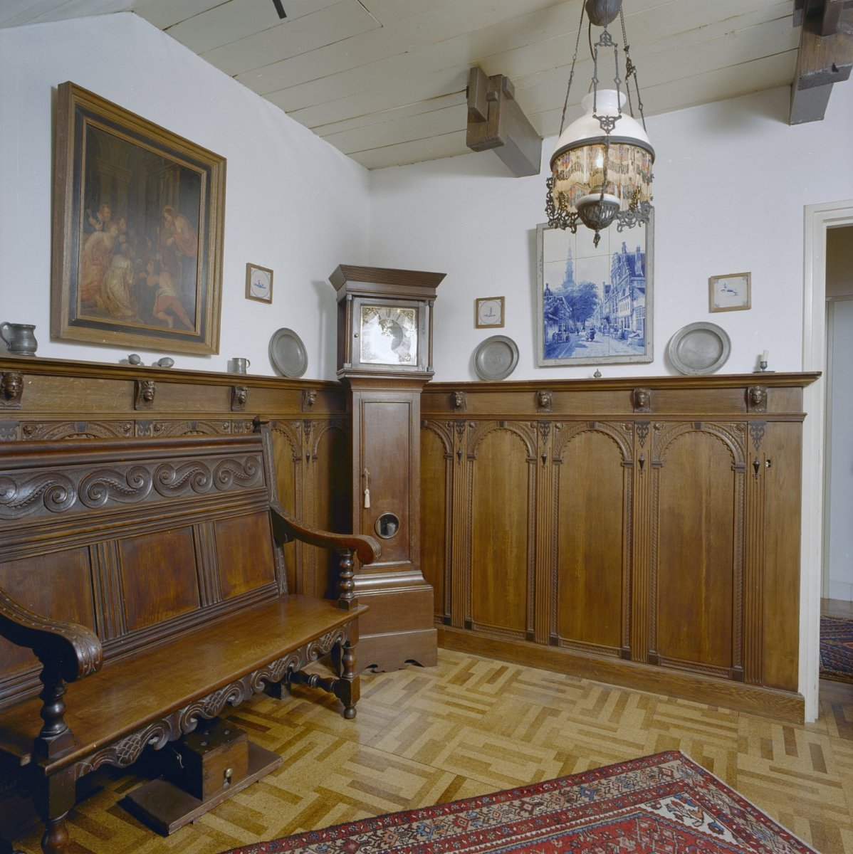 File interieur zogenaamde betaalkamer houten for Kamer interieur