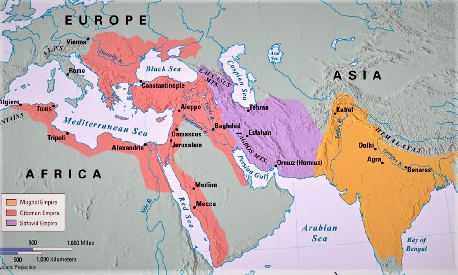safavid empire world map Gunpowder Empires Wikipedia