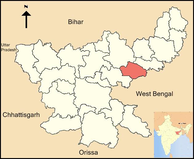 Dhanbad District Wikipedia - Dhanbad map