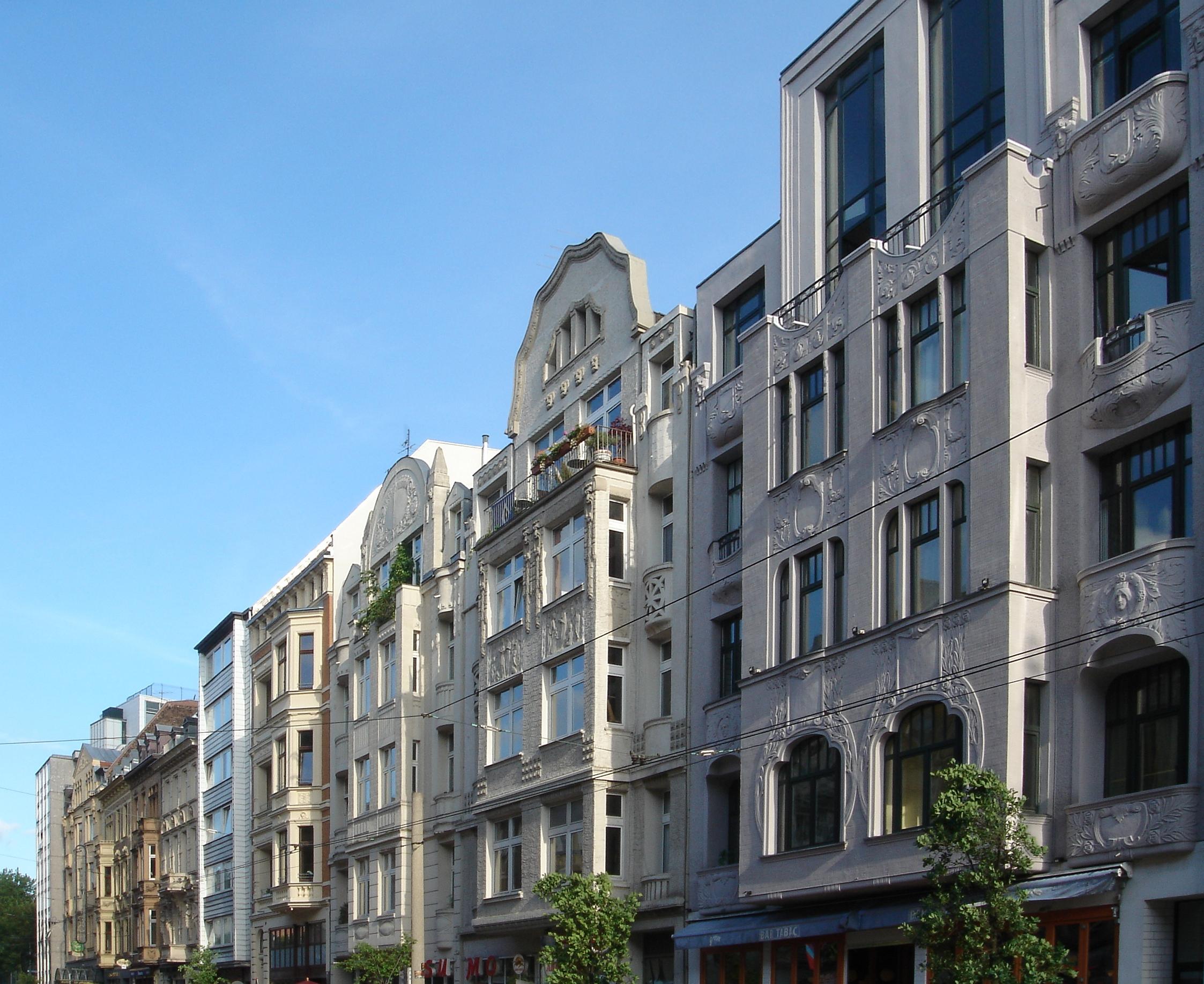 Jugendstilhäuser im Belgischen Viertel