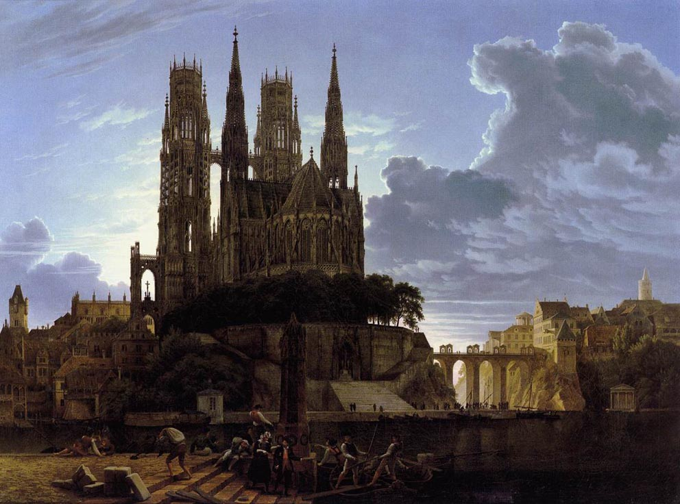 Karl Friedrich Schinkel (1781-1841) Karl_Friedrich_Schinkel_-_Medieval_Town_By_Water