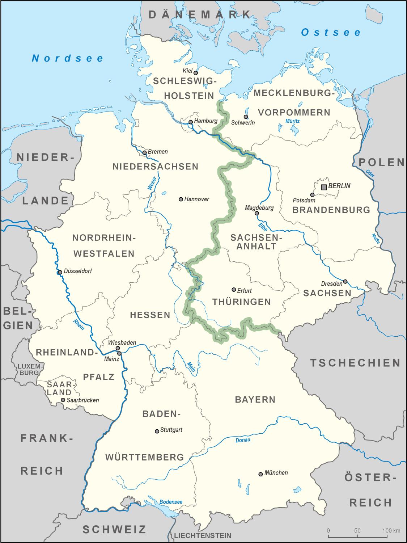 berliner mauer karte deutschland Datei:Karte Deutschland Grünes Band.png – Wikipedia