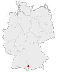 Karte Kempten in Deutschland