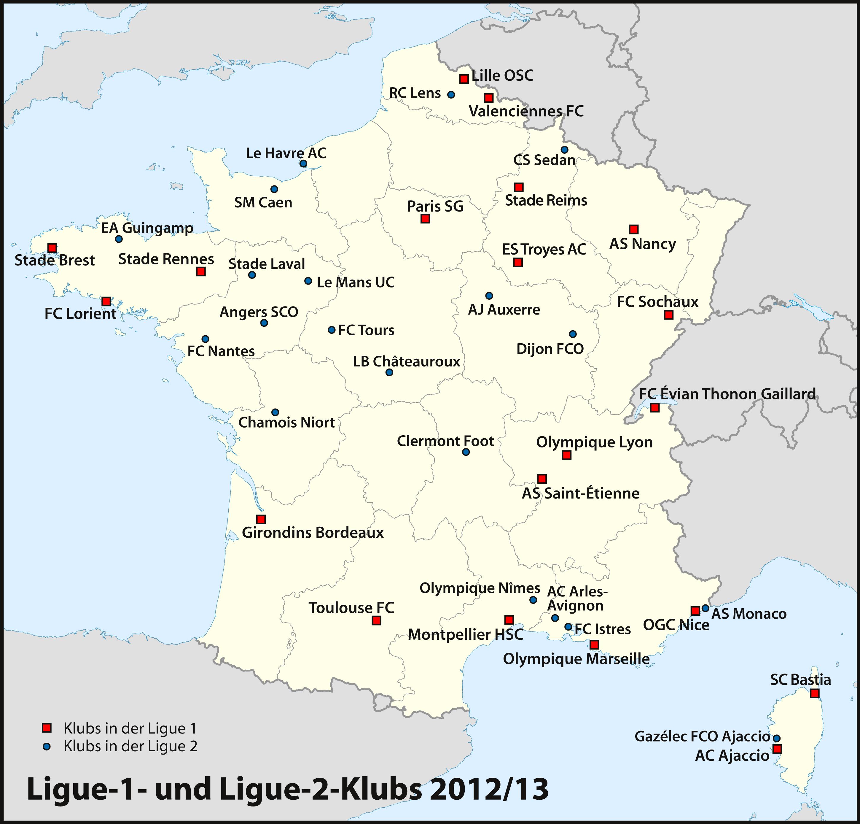 Nantes Karte.File Karte Ligue 1 2 Klubs 2012 2013 Png Wikimedia Commons