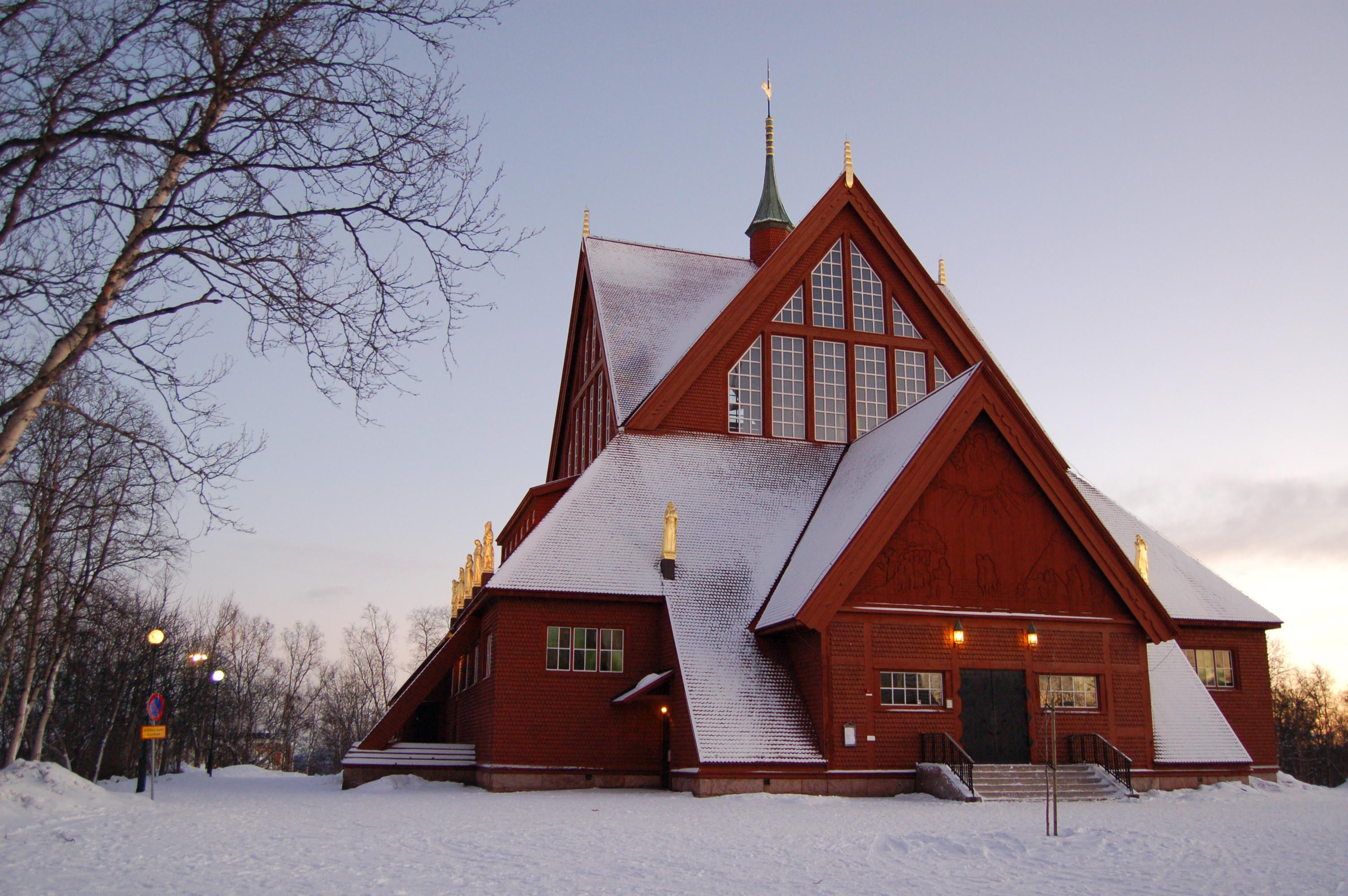 Bild av Kiruna kyrka