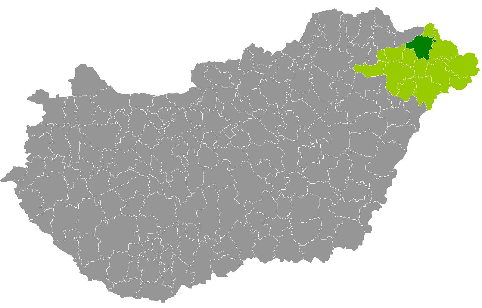 kisvárda térkép File:Kisvárdai járás.png   Wikimedia Commons kisvárda térkép