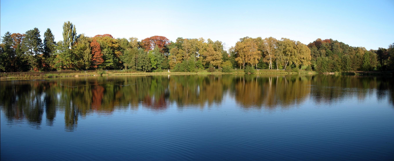 Recreational-only Kupferbach reservoir near Aachen/Germany.