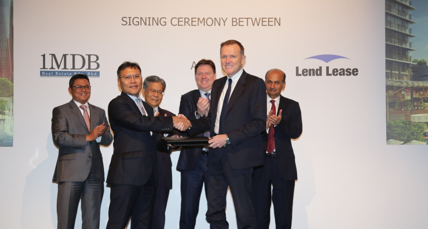 Lend Lease TRX Signing Ceremony
