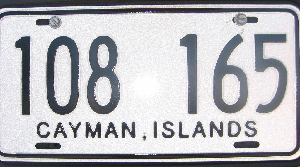 Vehicle registration plates of the Cayman Islands - Wikipedia