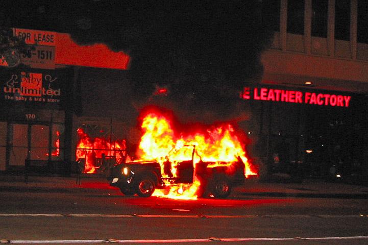Car Accident Flames On Rt  Beachwood Nj