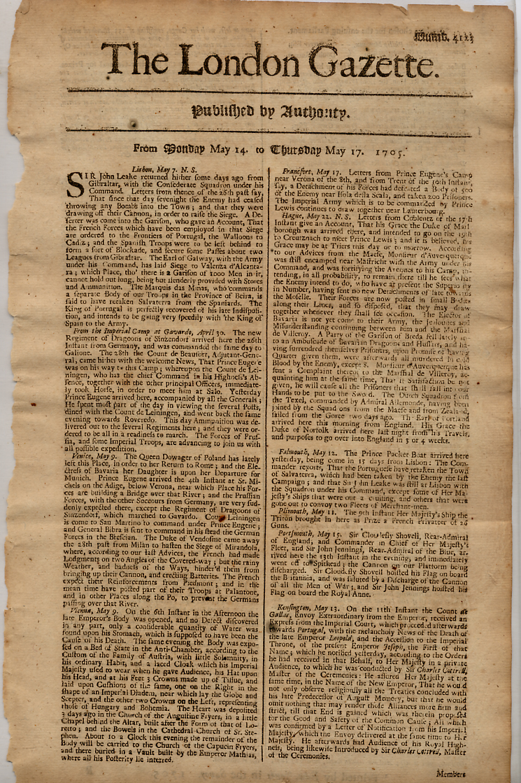 London Gazette(1705).jpg