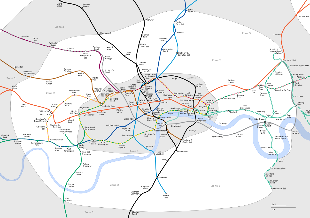 File London Underground Zone 2 Png