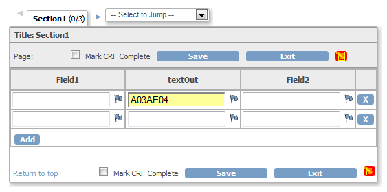 Method 3: CRF in OC after selecting option