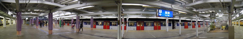 羅湖站2、3號月台全景圖
