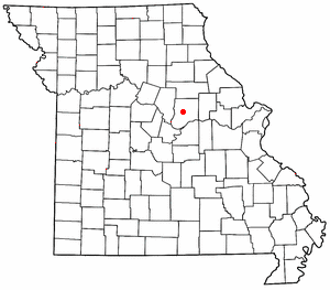 Location of Fulton, Missouri