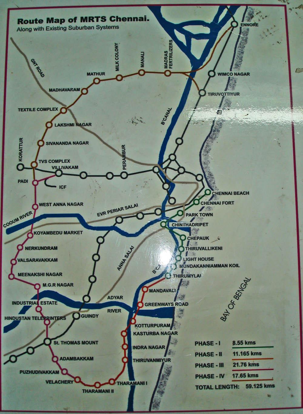 Chennai Mrts Map File:MRTS proposed map.   Wikimedia Commons