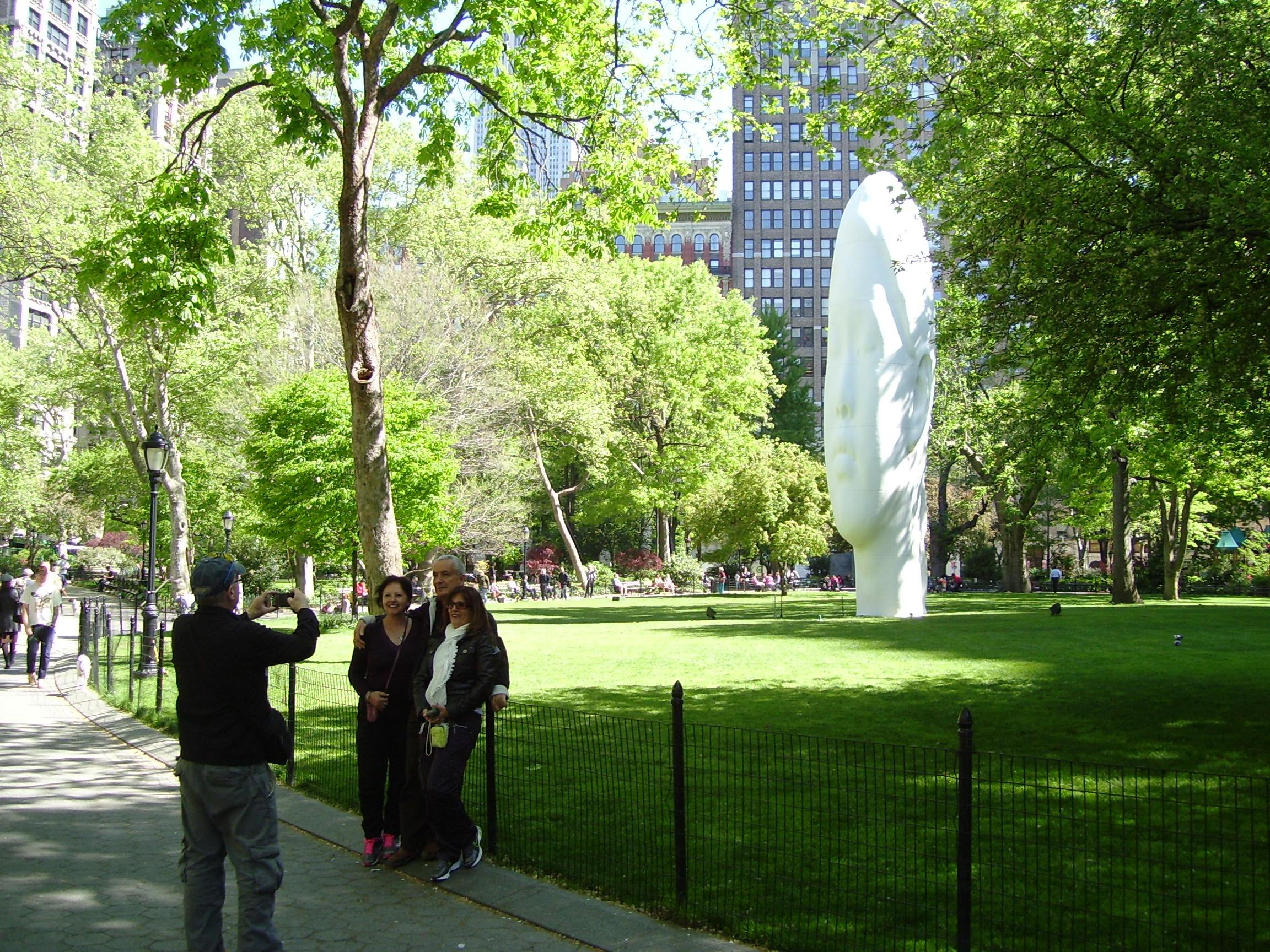 File Madison Square Park Group Photo With Public Art Jpg Wikimedia Commons