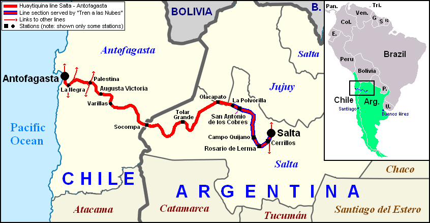 FileMap Of SaltaAntofagasta Railwaypng Wikimedia Commons - Argentine railway map