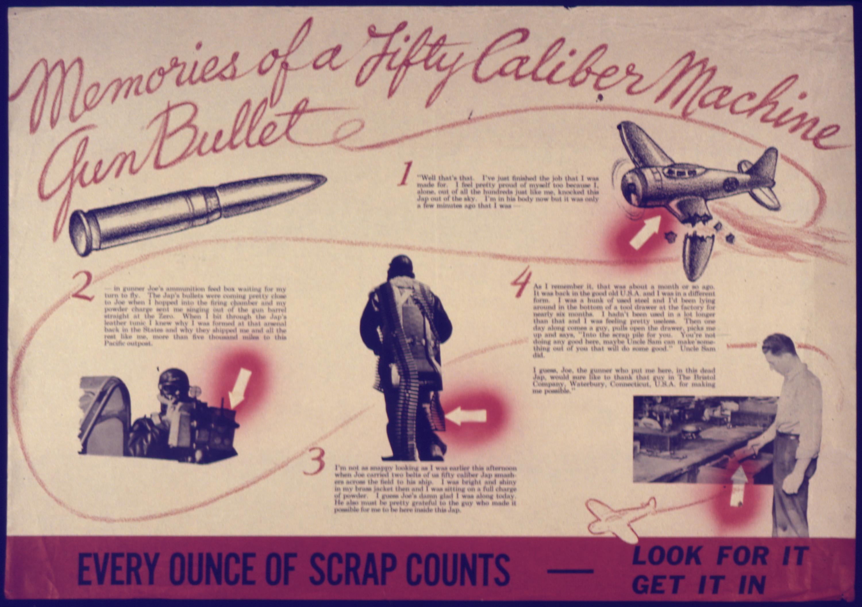 Bullet Chart Size: Memories of a Fifty Caliber Machine Gun Bullet - NARA ,Chart
