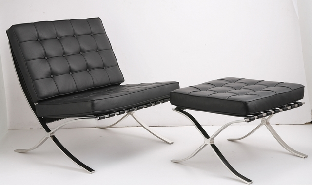 Bon Mies Barcelona Chair And Ottoman ...