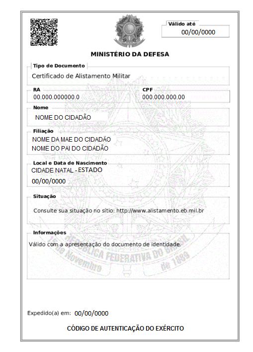 Certificado De Alistamento Militar Wikipedia A Enciclopedia Livre