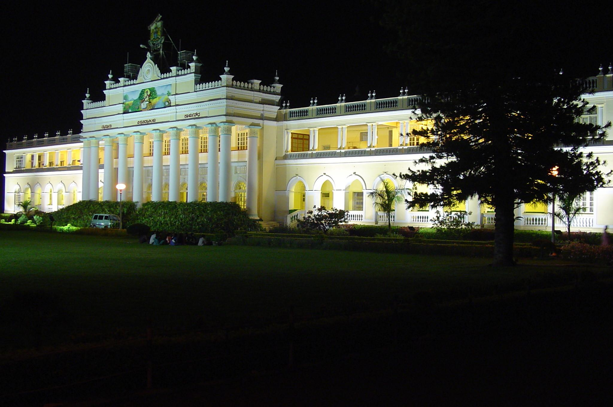 Crawford Hall, the administrative headquarters of the University of Mysore