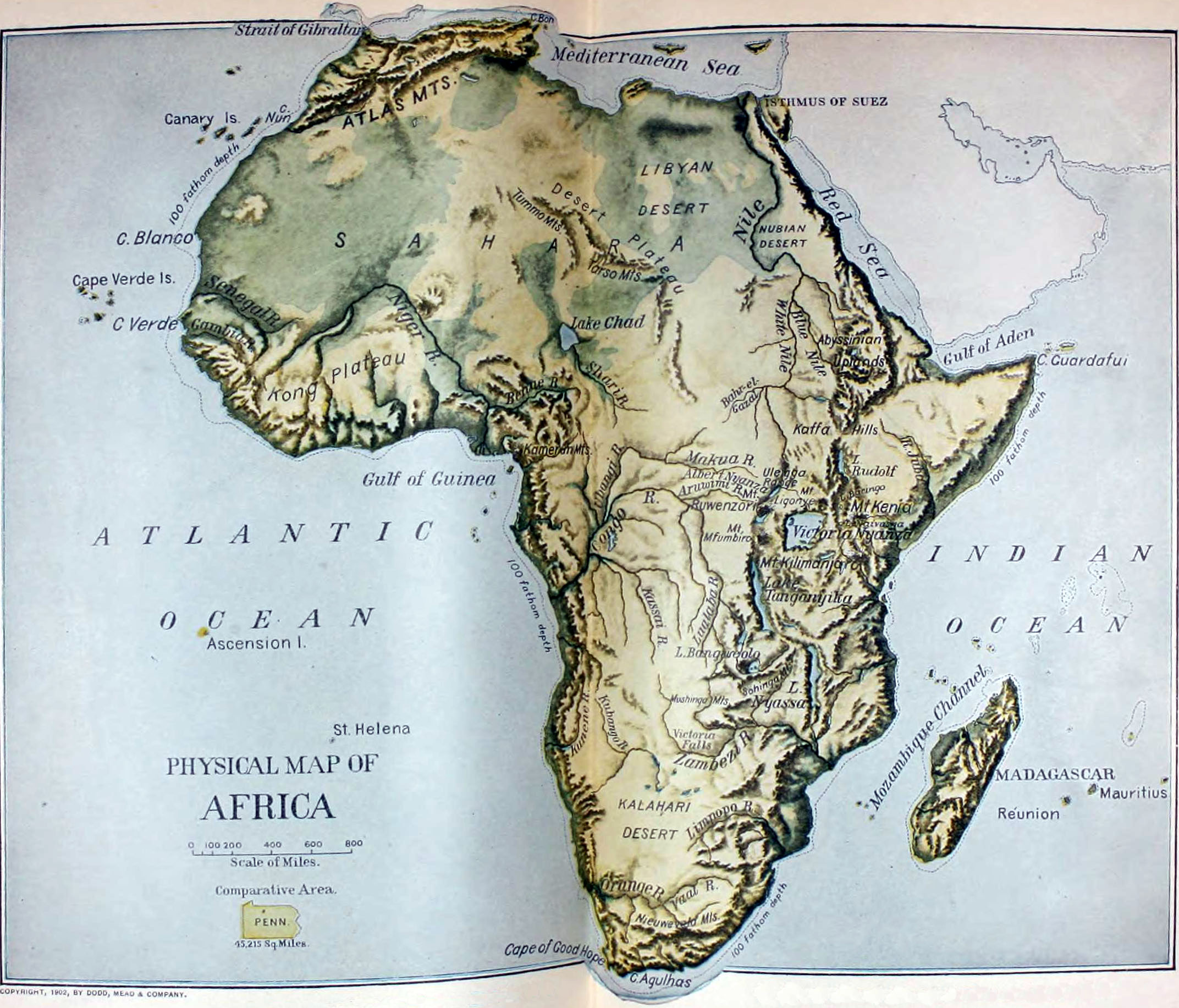 FileNIE Africa Physical Mapjpg Wikimedia Commons - Map of africa physical