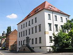 Здание, где умер Новалис во Вайсенфельсе. Сегодня здесь расположена библиотека.