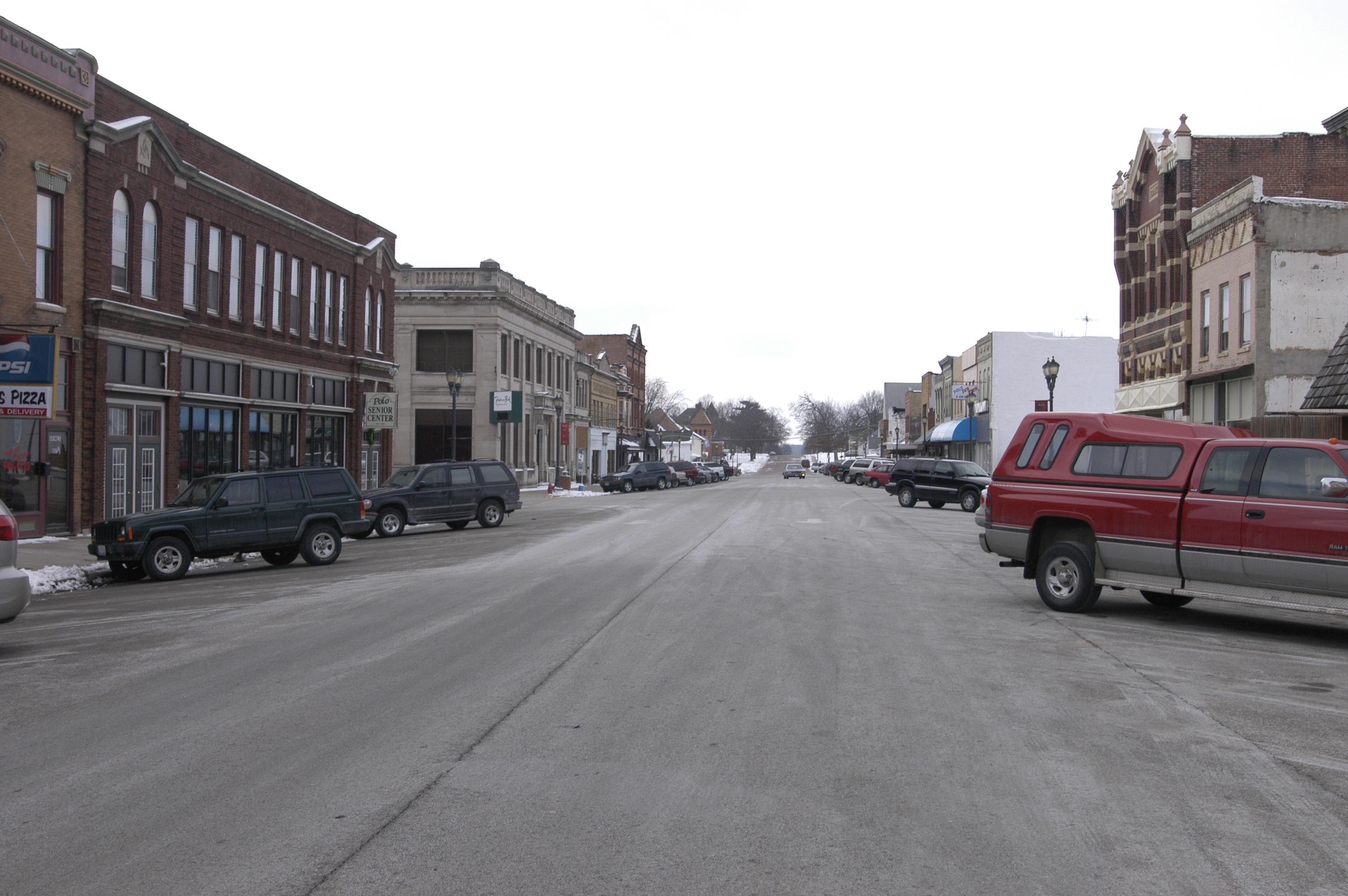 Illinois ogle county polo - File Ogle County Polo Il Downtown1 Jpg