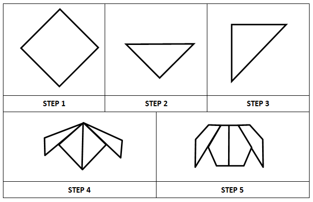 Origami Dog Face | 409x634