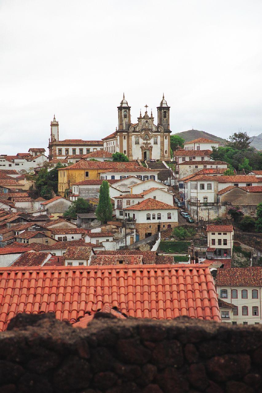Ouro Preto, 18th century colonial city in Minas Gerais, Brazil.