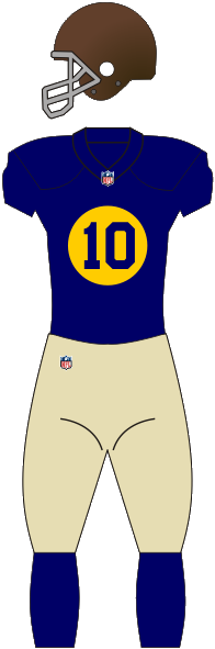 The Packers' first alternate uniform, a throwback first introduced in 2010 Packers throwback.png