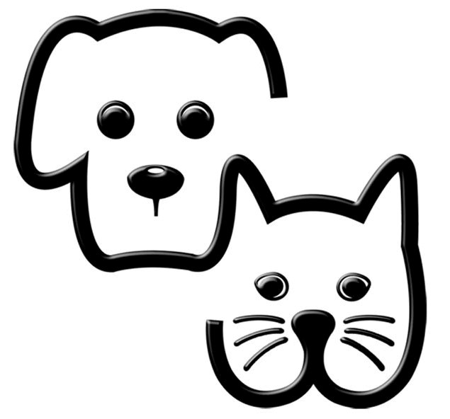 Black And White Dog Logo