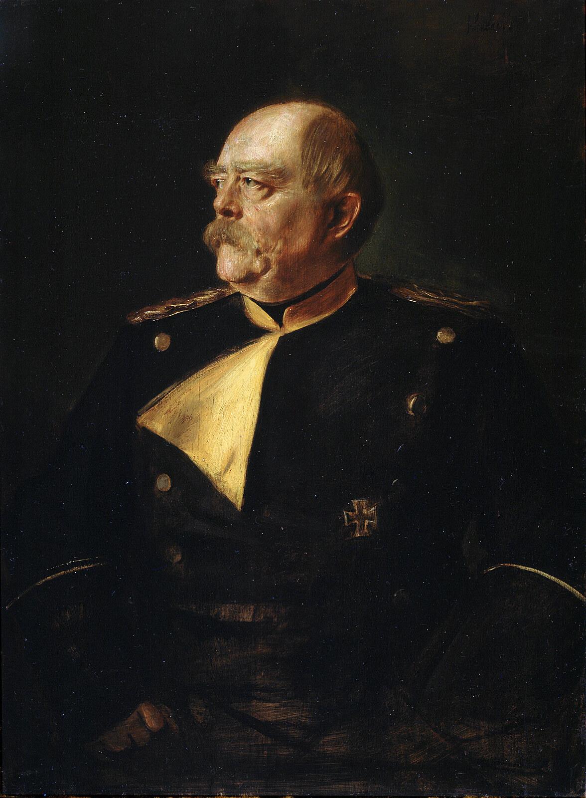 Portrait of Chancellor Otto von Bismarck in Uniform Lenbach, Franz, von