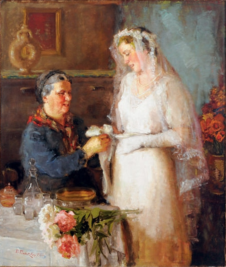 Prince Paolo Troubetzkoy - Wedding day (1922).jpg