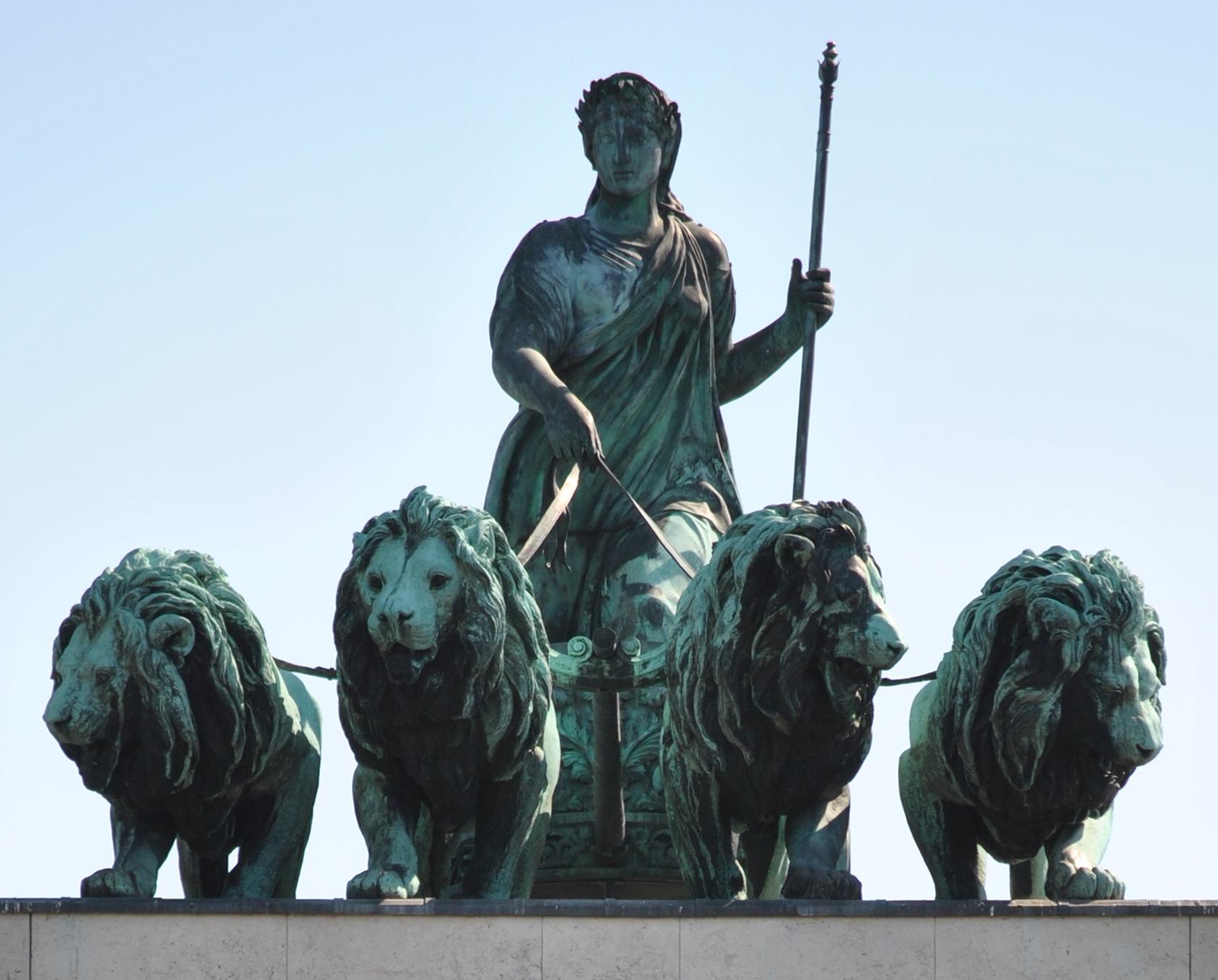 Photo: The Quadriga on top of Brandenburg Gate