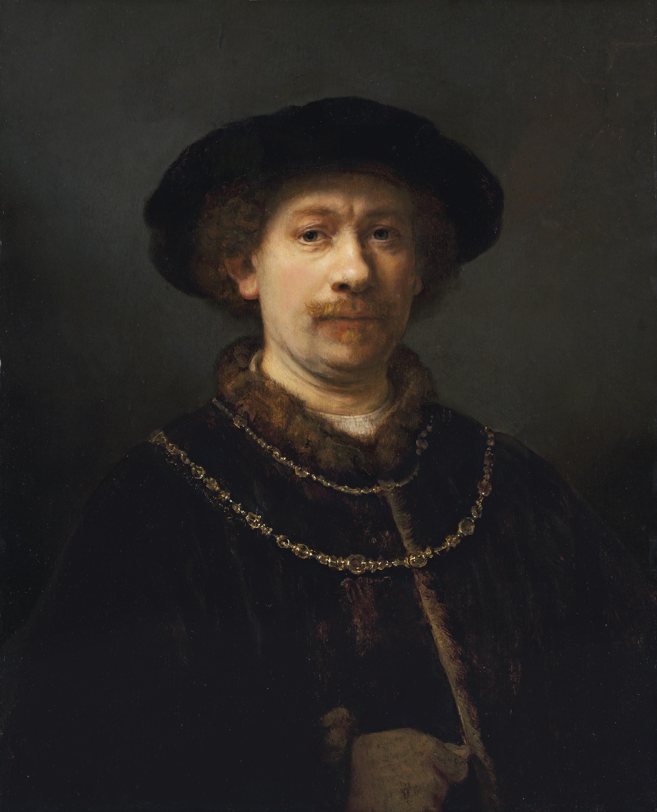 Rembrandt Harmensz van Rijn | Self Portrait in a Velvet Cap with Plume