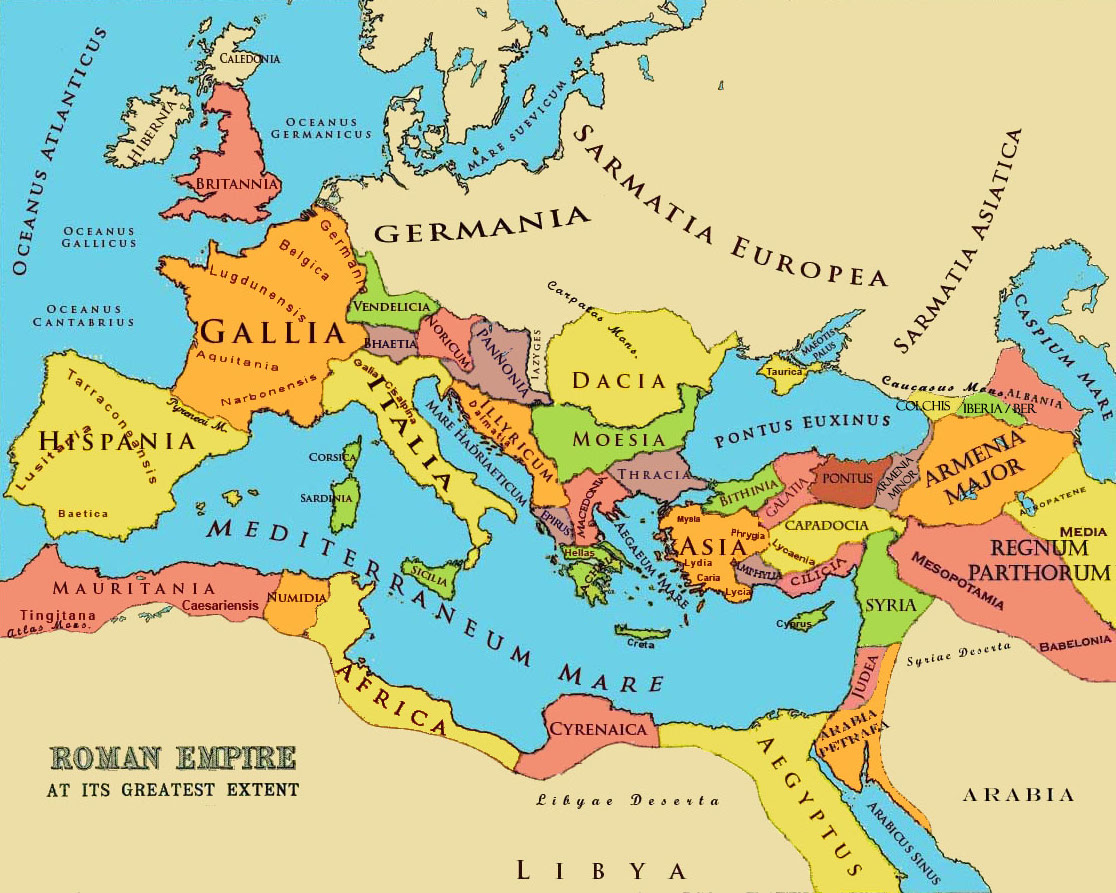 Ancient Roman Empire Cities Map Map of The Roman Empire