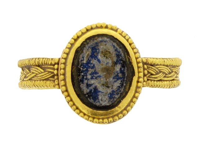 Blue Sapphire Right Hand Ring