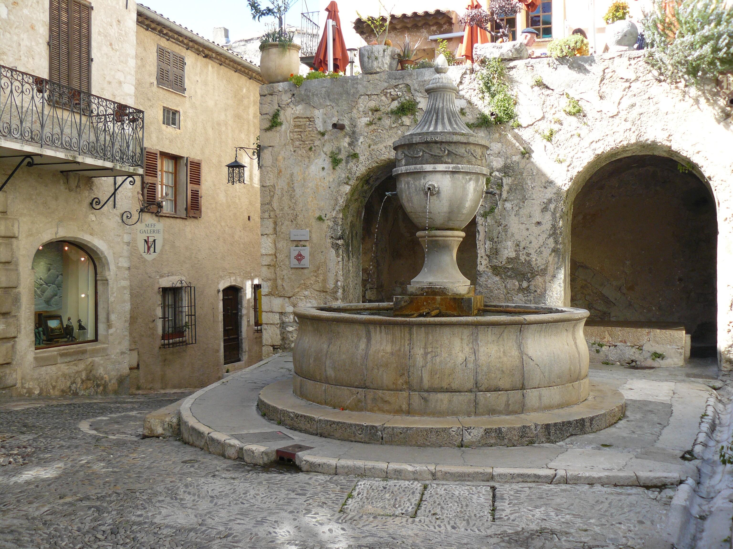 File Saint Paul De Vence Sa Fontaine Jean Charles