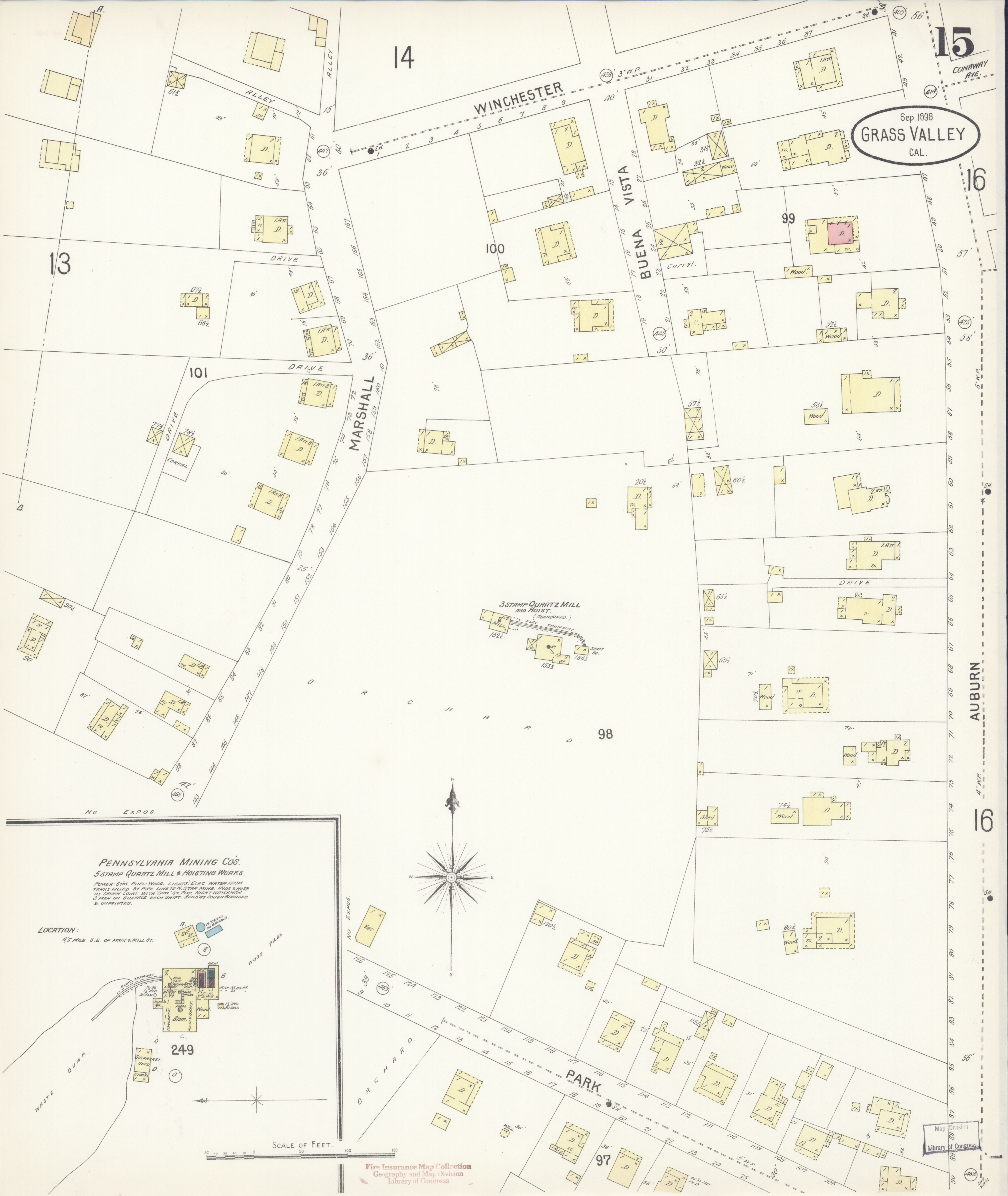 File Sanborn Fire Insurance Map From Grass Valley Nevada County