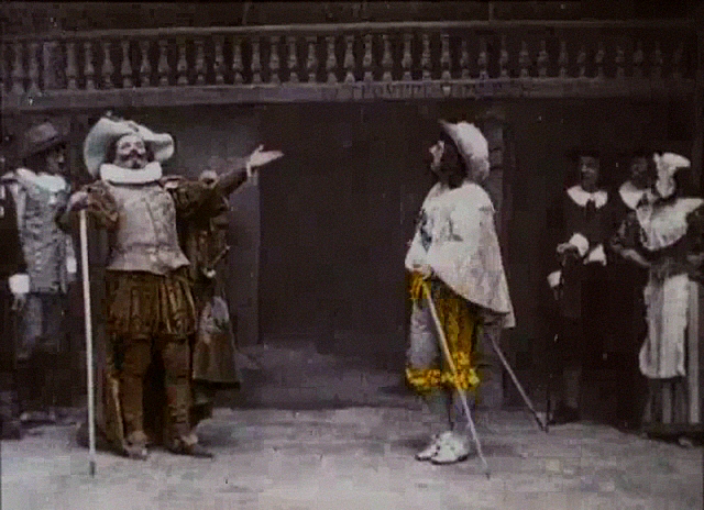 The heroism of cyrano de bergerac in a play