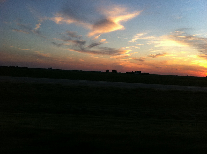 File:Setting Sun While Driving on North Interstate 39 in Illinois.jpg