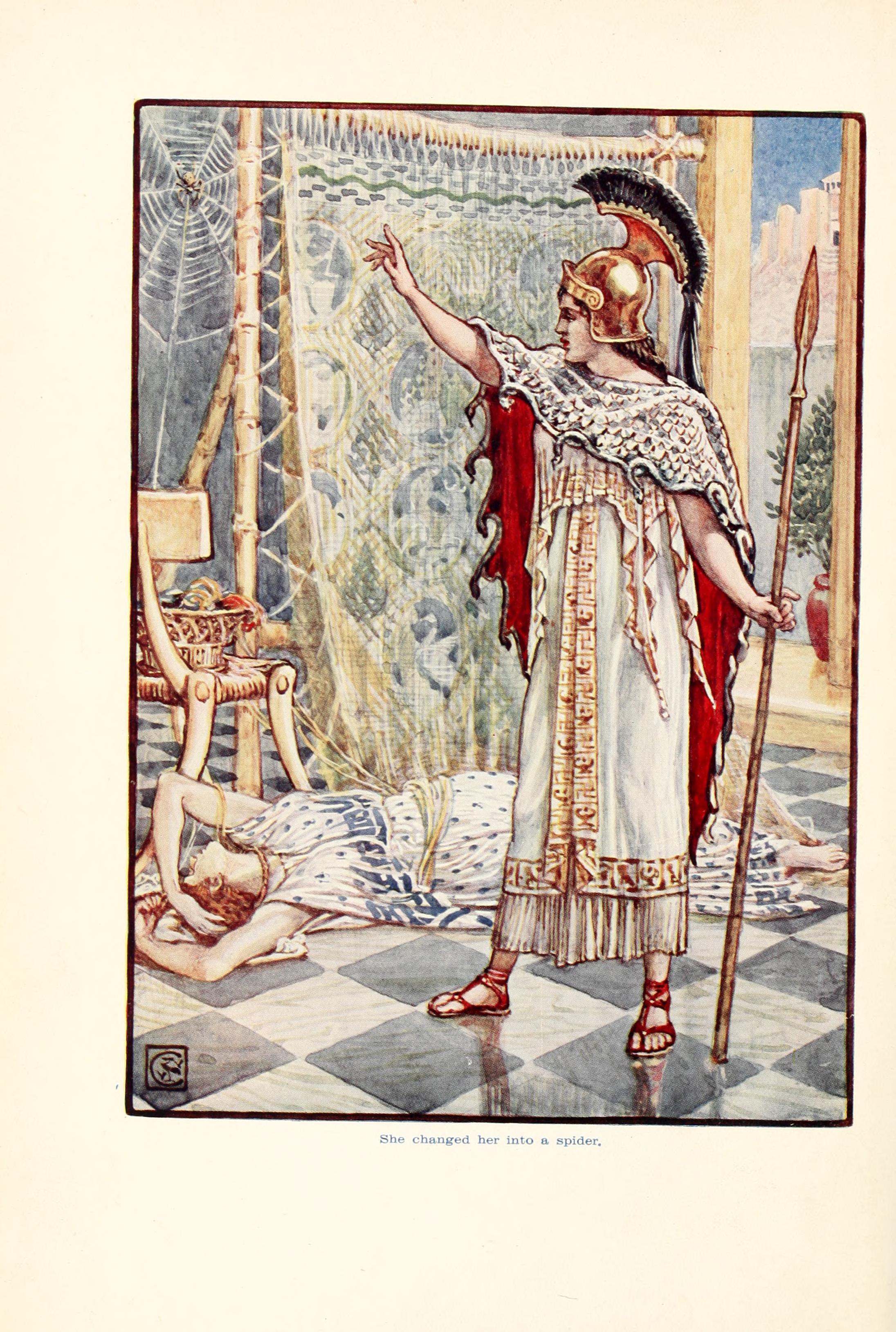 Мифы древней греции арахна картинки