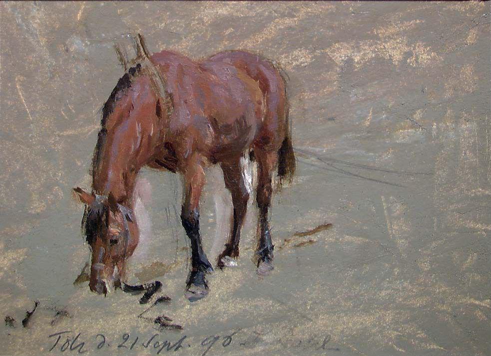 Зигвальд Даль - Лошадь - NG.M.02293 - Национальный музей искусства, архитектуры и дизайна.jpg