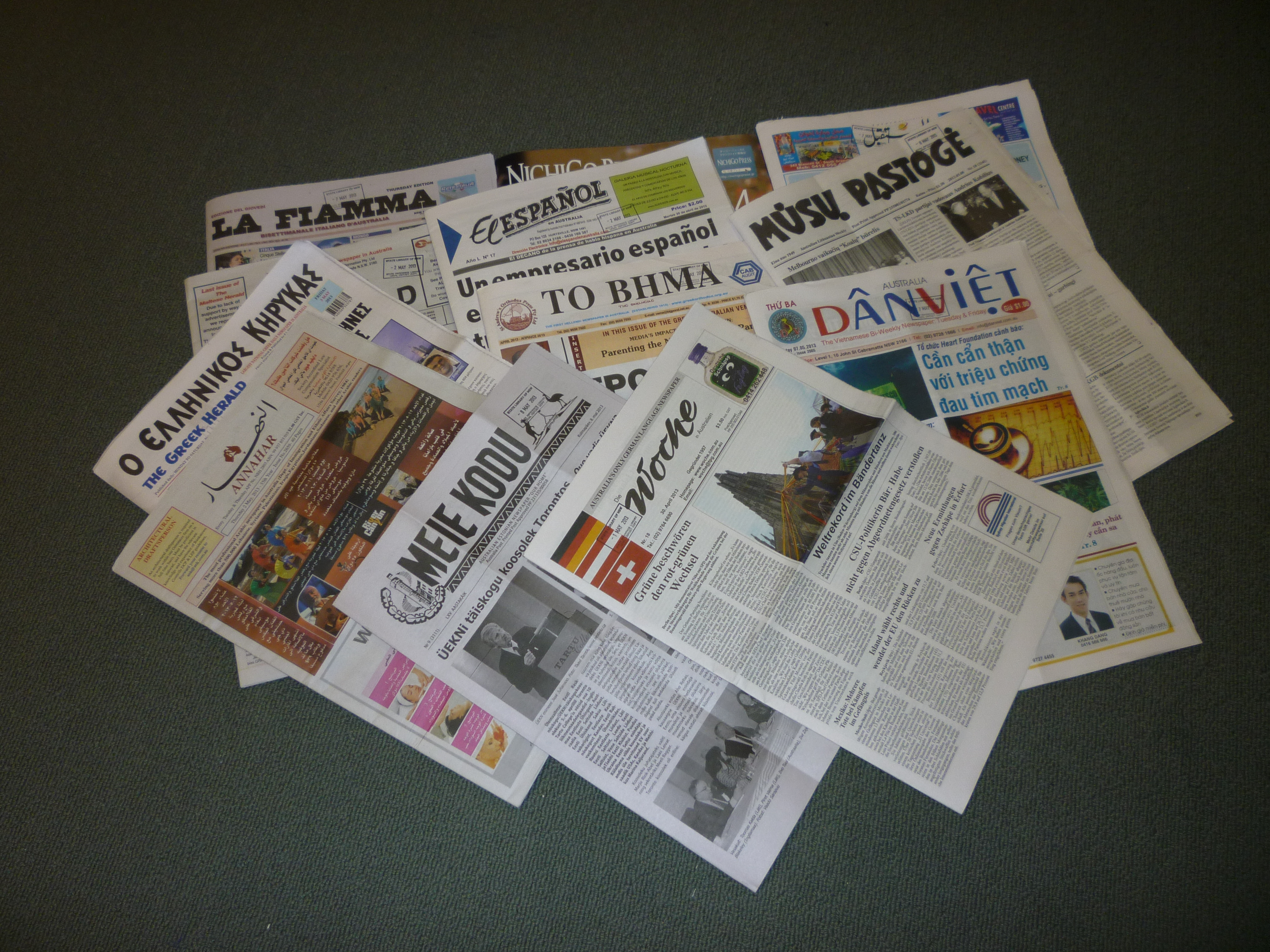 List of non-English-language newspapers in New South Wales