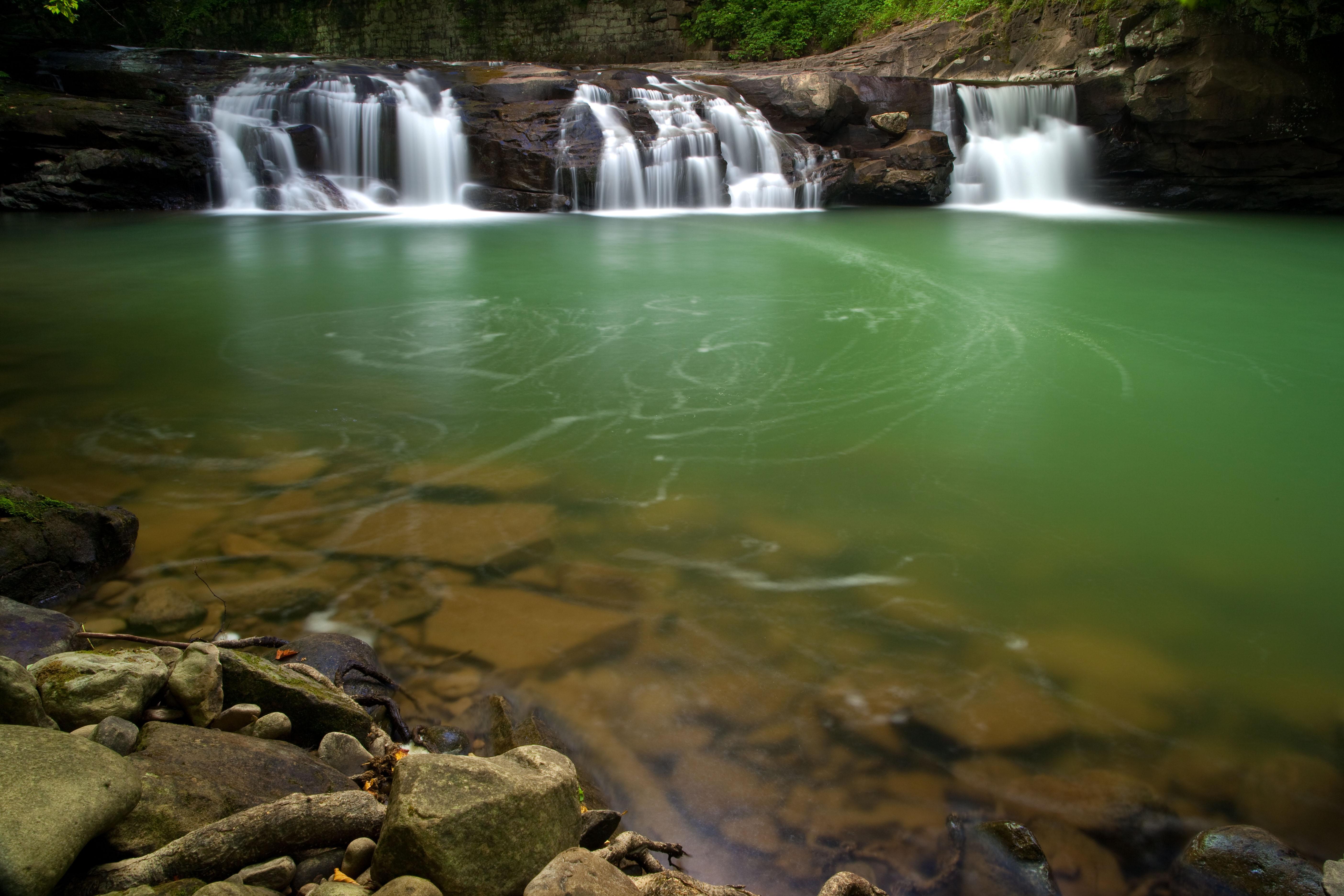 File Spring Waterfalls Glade Creek West Virginia