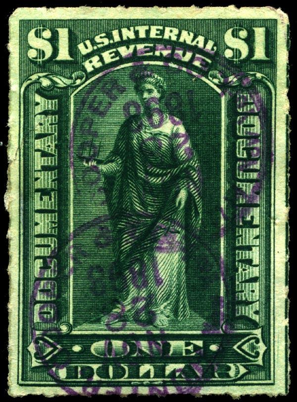 FileStamp US 1898 1dollar Revenue