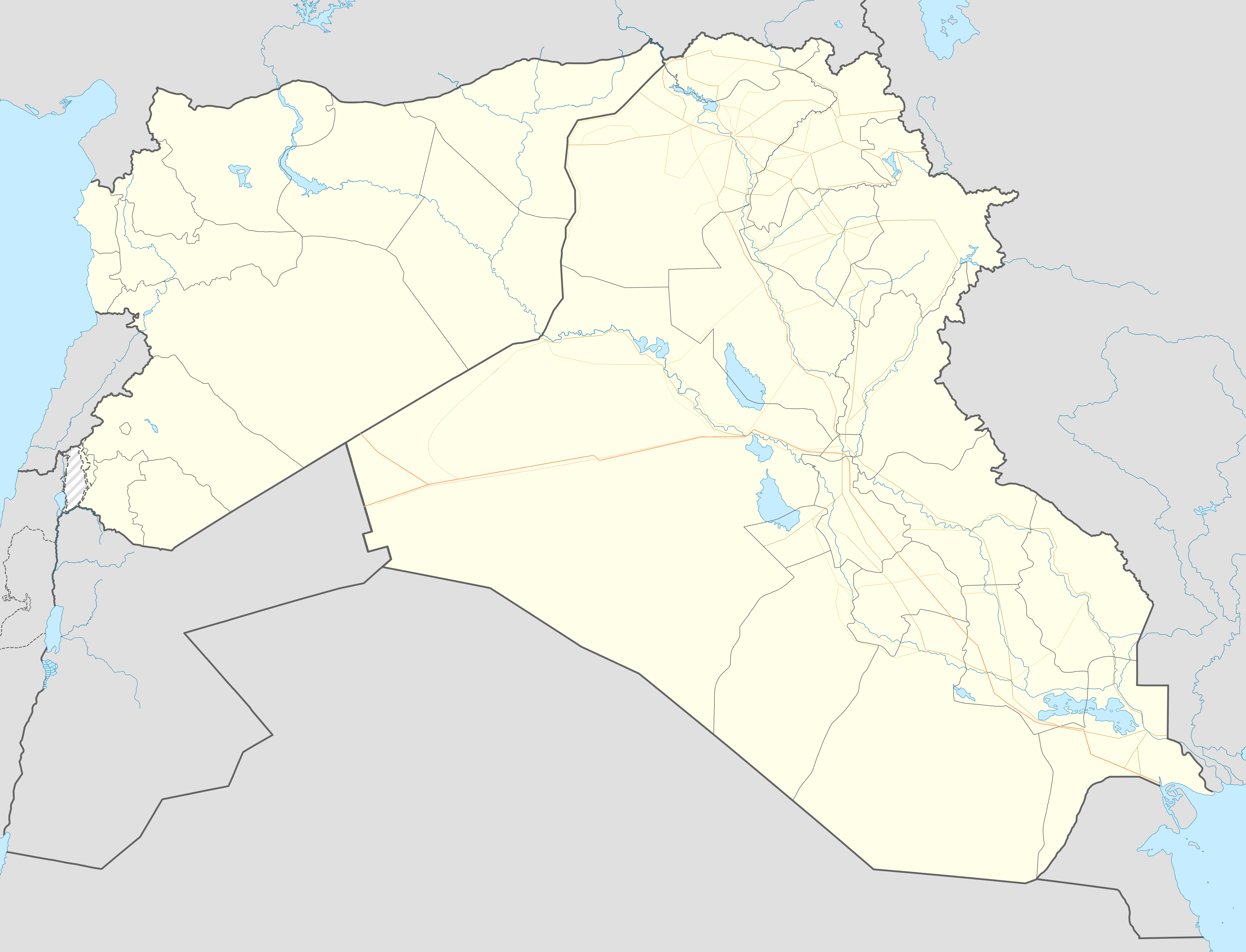 syrian and iraqi insurgency detailed map is located in syria iraq